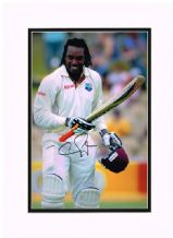 Chris Gayle Autograph Signed Photo - West Indies